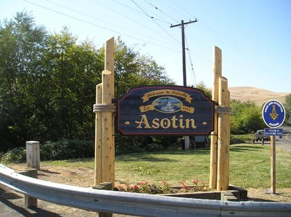 A new welcome sign will greet visitors to Asotin