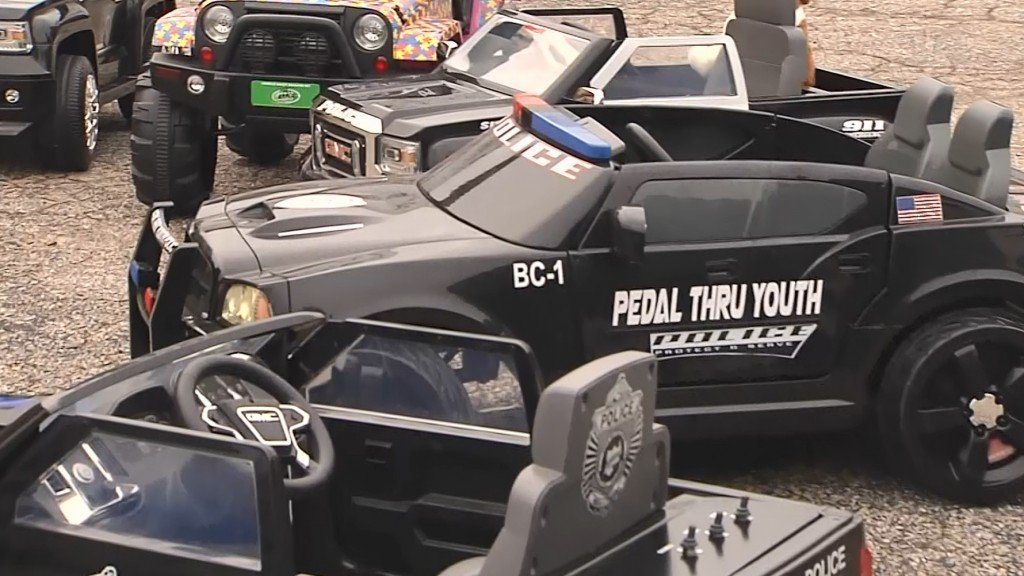 Mini police cruisers donated to children's hospital