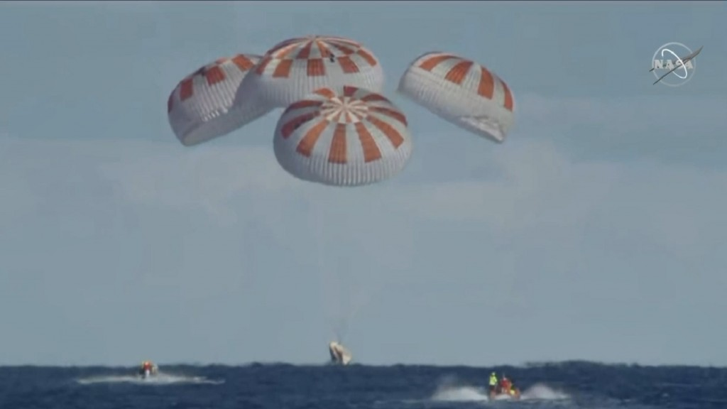 SpaceX Crew Dragon returns from ISS