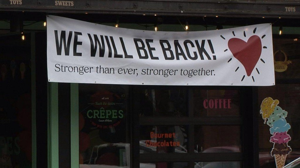 """CDA """"WE WILL BE BACK"""" SIGN"""