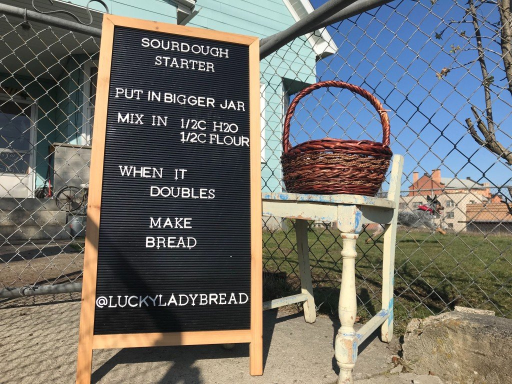 Lucky Lady Bread Sign