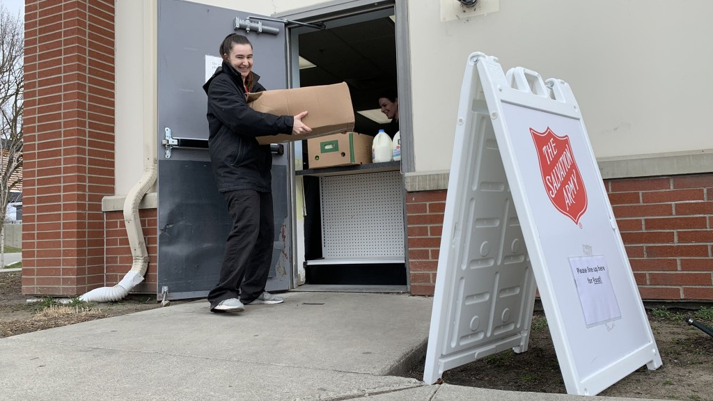 Salvation Army Food boxes