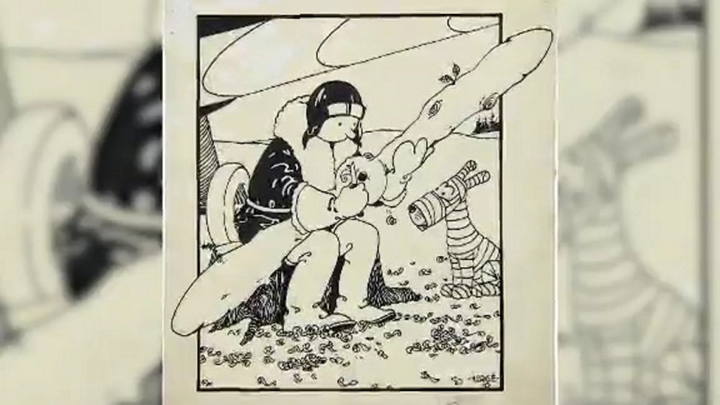 Tintin original cover art bought at auction for more than $1 million