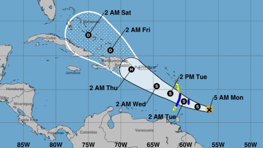 Dorian expected to near hurricane strength as it heads for Puerto Rico