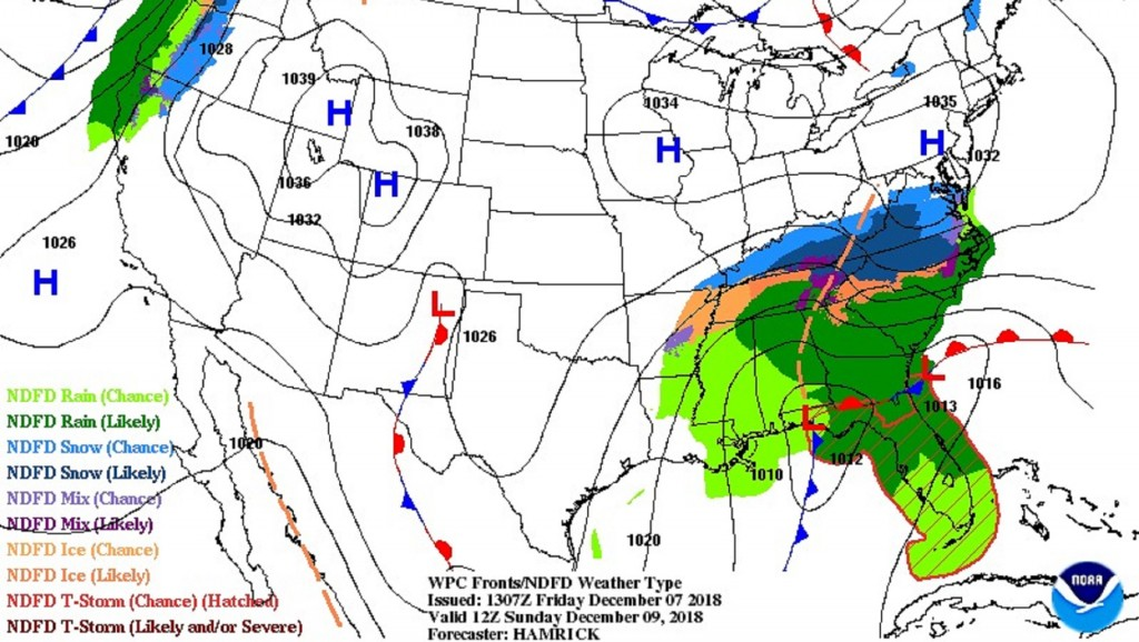 Snow could blanket the South this weekend in major winter storm