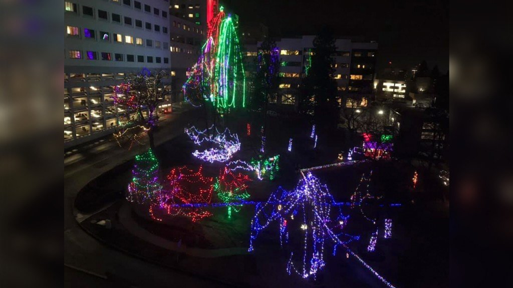 PHOTOS: Check out the holiday light display outside Sacred Heart Children's Hospital
