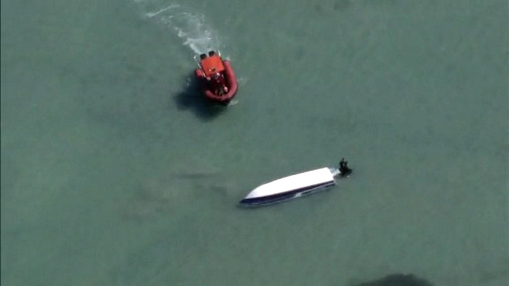 Coast Guard searches for two missing boaters