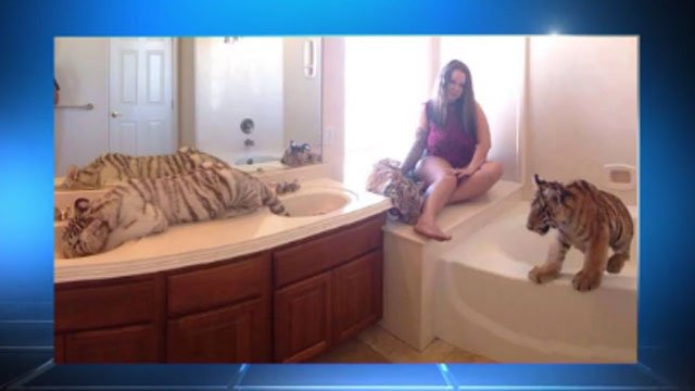 Texas woman with exotic animals in home charged