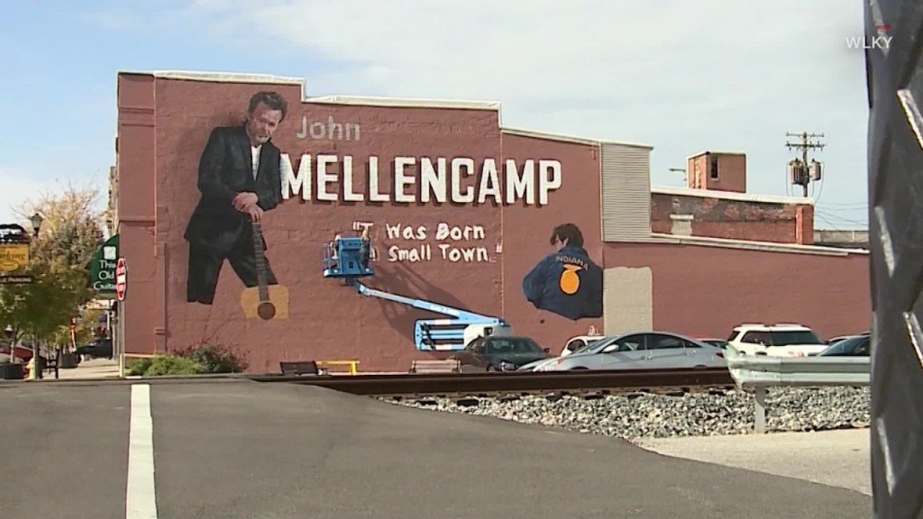City honors hometown hero John Mellencamp with mural