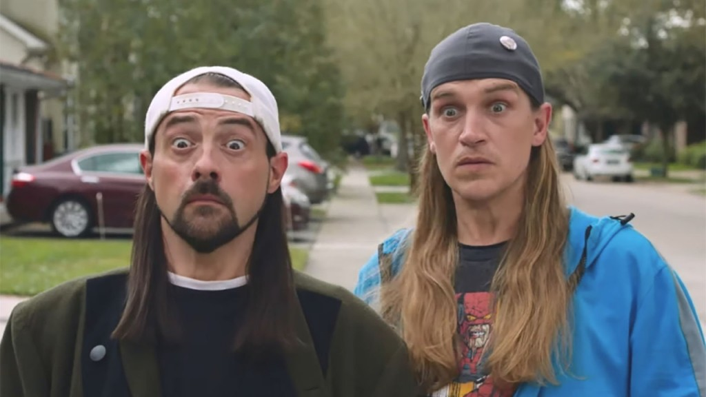 Jay and Silent Bob fight reboot in new reboot trailer