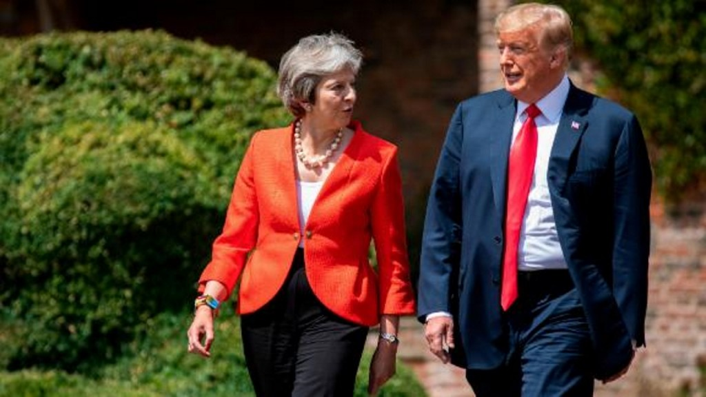 Britain's National Health Service keeps coming up during Trump's visit