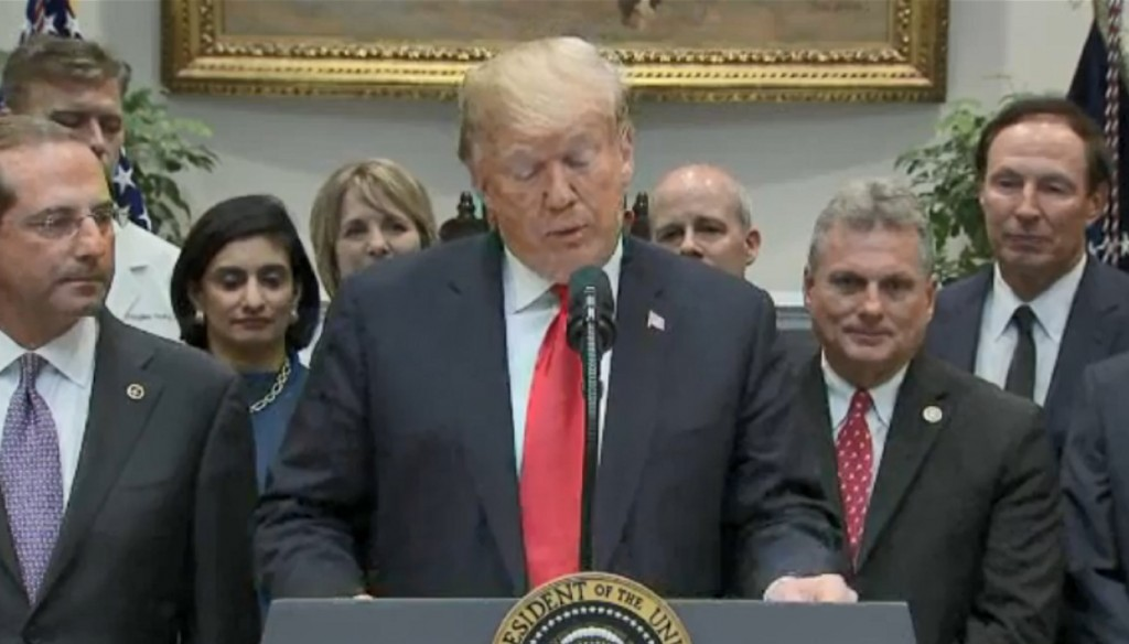 Trump signs bills aimed at increasing drug price transparency