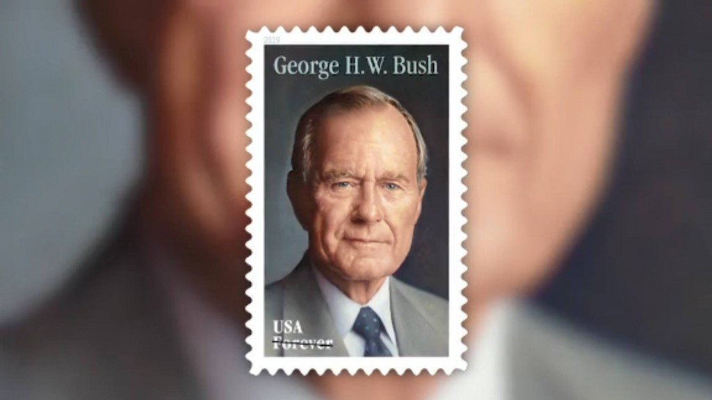 Postal Service issues George H.W. Bush 'Forever' stamp