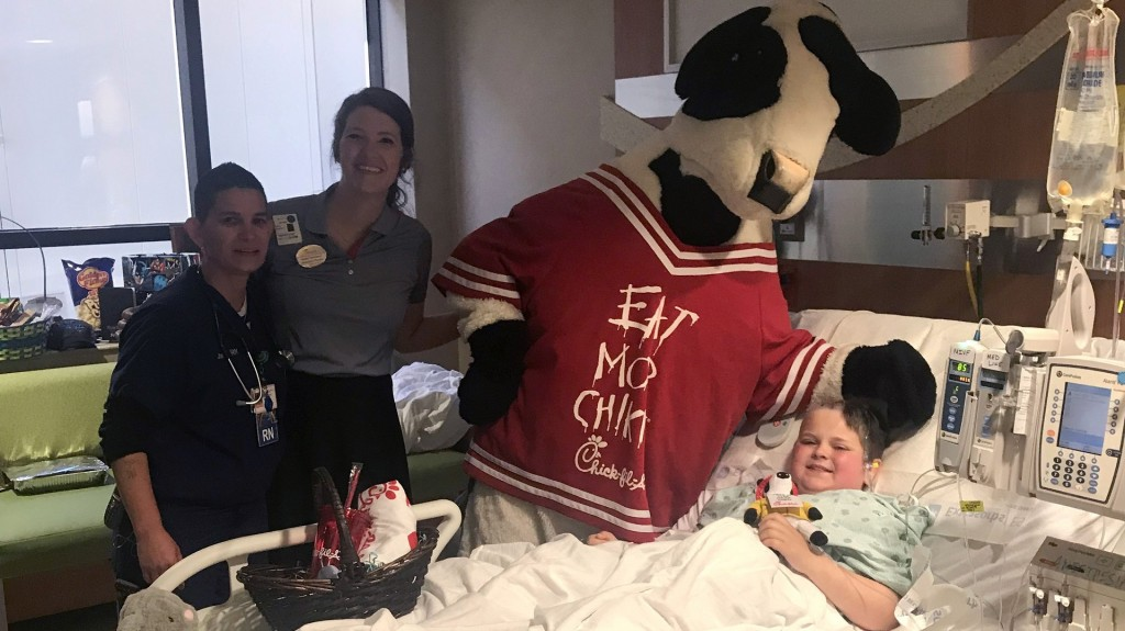 Chick-fil-A makes special Sunday delivery to sick boy