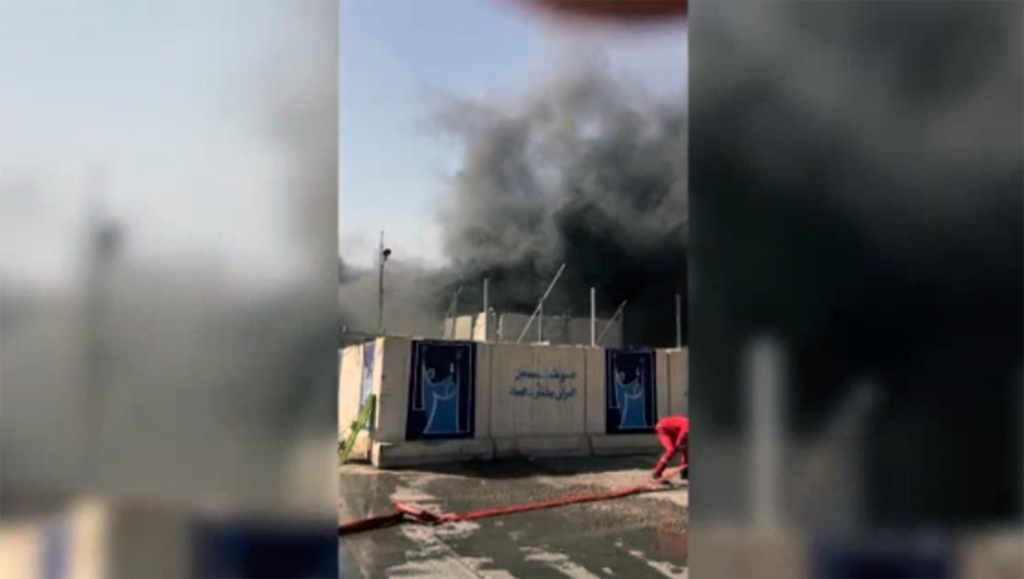 Fire breaks out at Baghdad warehouse