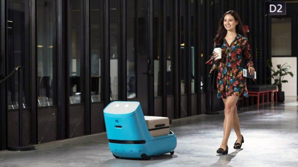 KLM's new airport robot Care-E will guide you to the gate
