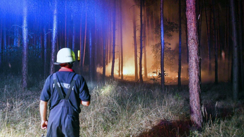 Buried WW II munitions explode as wildfire burns near Berlin