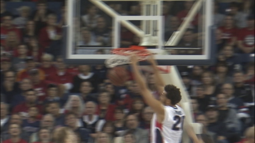 Harris, Karnowski lead Zags to 96-58 win