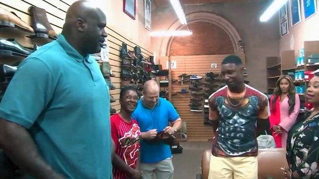 Shaquille O'Neal surprises teen with 10 pairs of size 18 shoes