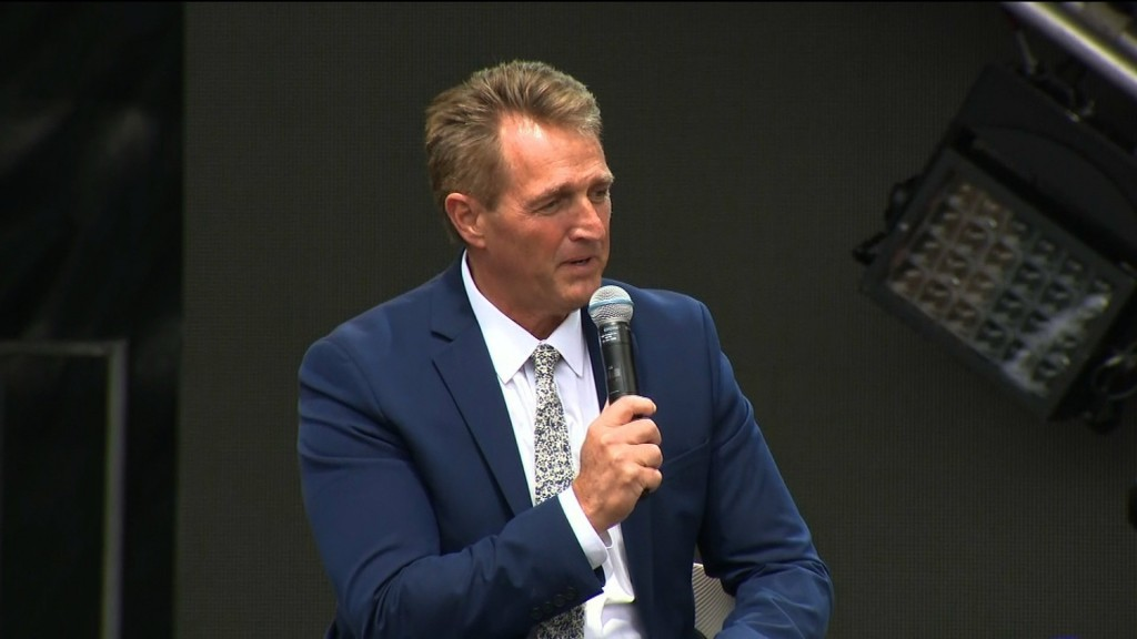 GOP Sen. Jeff Flake: Obama's tone 'is better' than Trump's