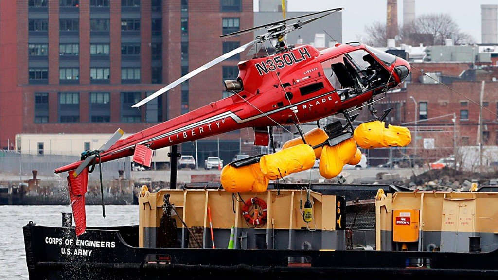NTSB calls for ban on 'unsafe harness systems' after NYC helicopter crash