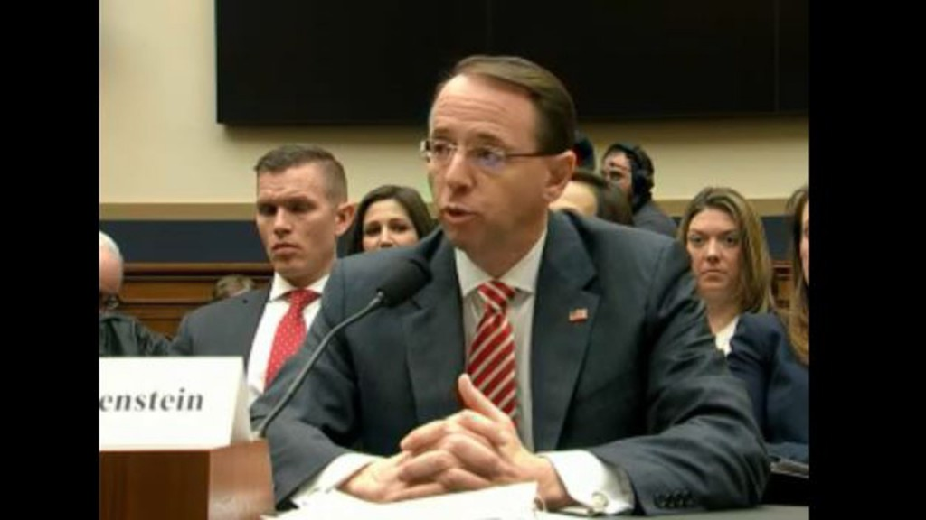 Trump won't say whether he's planning to fire Rosenstein