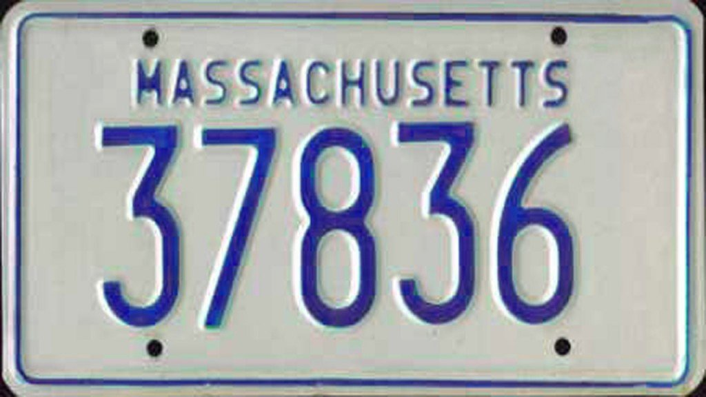 Man makes homemade license plates from pizza box