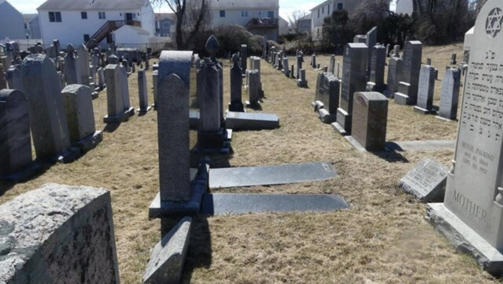 59 gravesites vandalized at Massachusetts Jewish cemetery