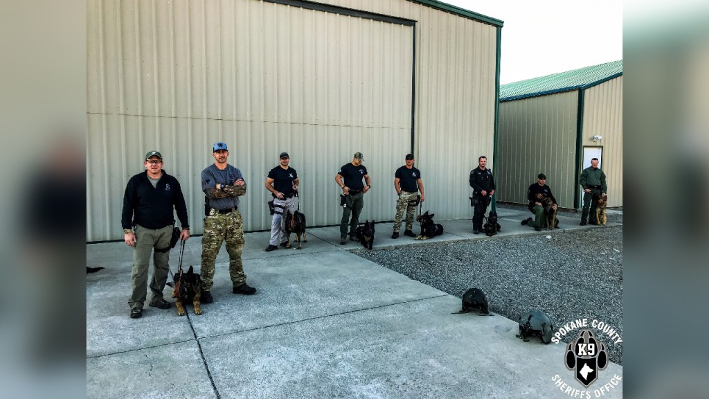 Spokane Valley Police Air Support Unit and K9 Training