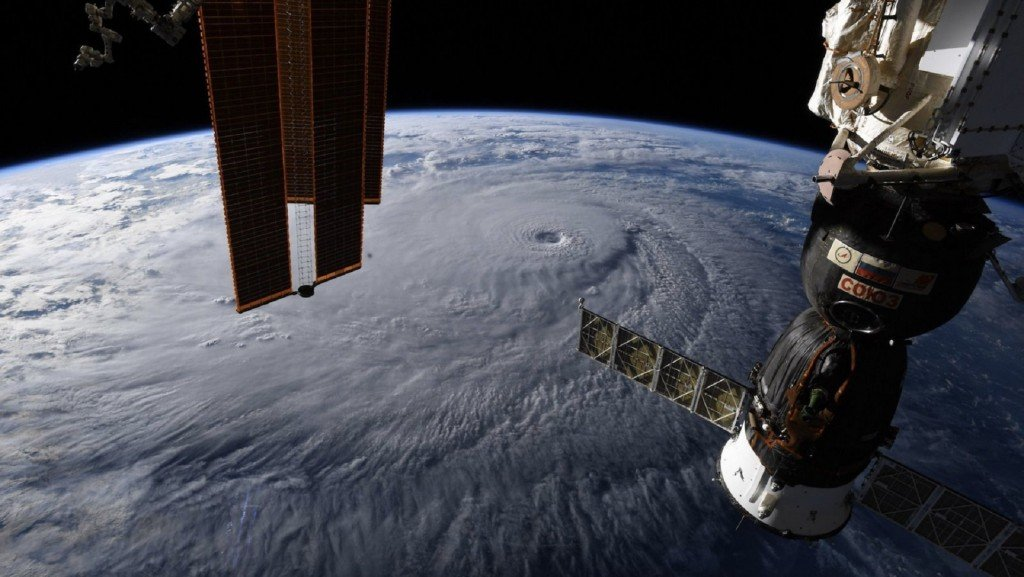 This is what Hurricane Lane looked like from space