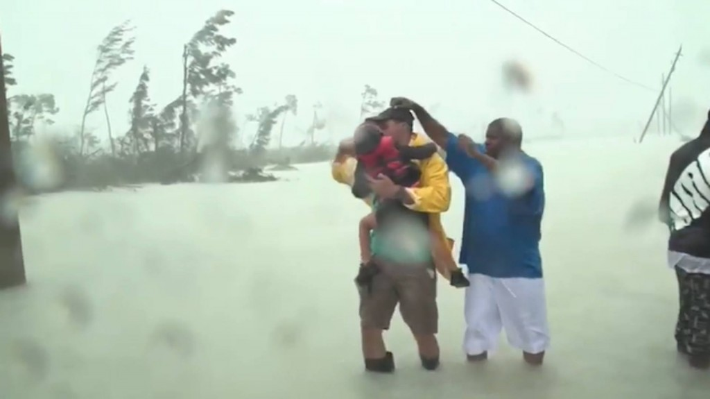 Parts of Bahamas 'completely under water' after Dorian