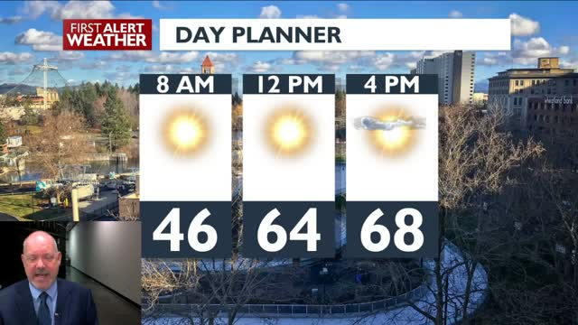 Warm And Sunny For Thursday And Friday.