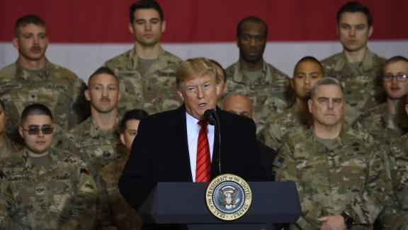 Trump speaks to troops in Afghanistan