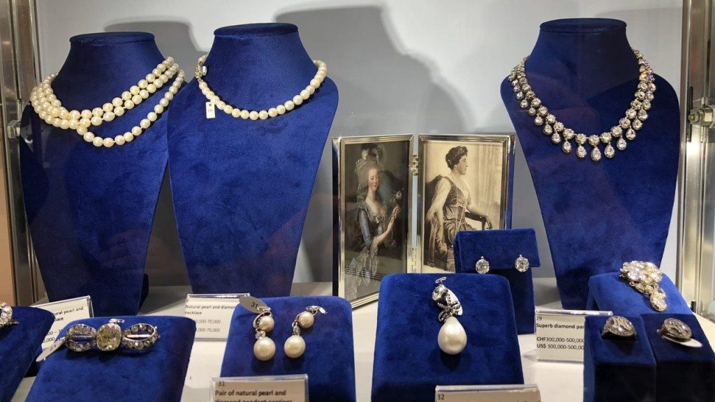 Marie Antoinette's pearl and diamond pendant fetches $36 million