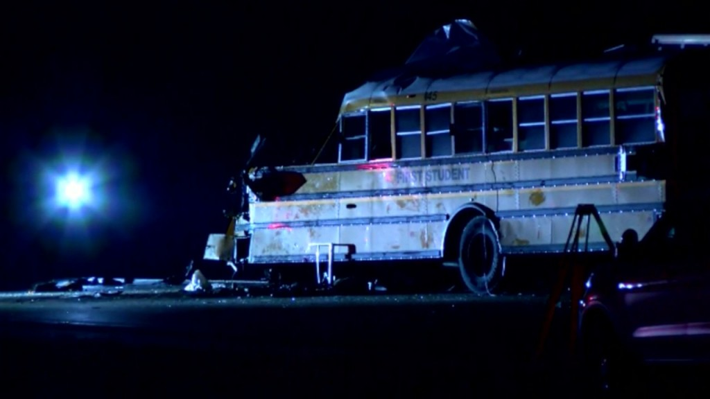1 dead after semi truck hits school bus in Illinois
