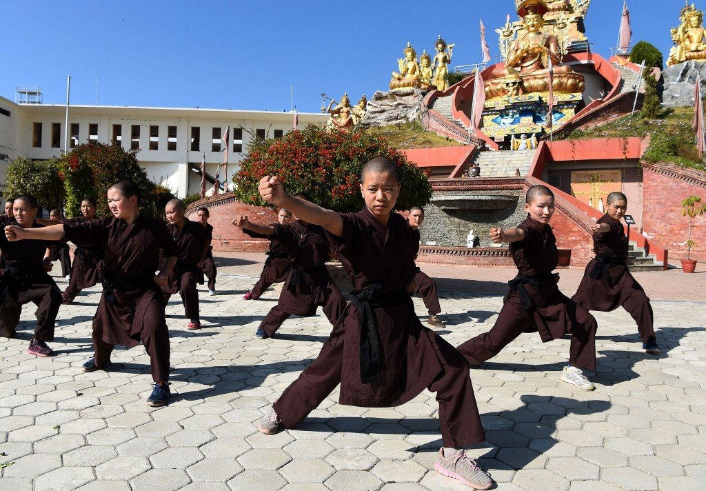 Kung Fu Nuns in Nepal boost their health in fight for women's rights