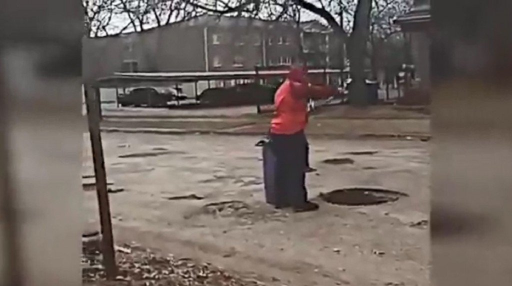 Michigan 12-year-old fixes potholes plaguing his street