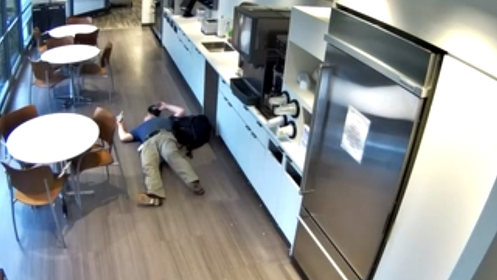 Security camera captures NJ worker's fake fall