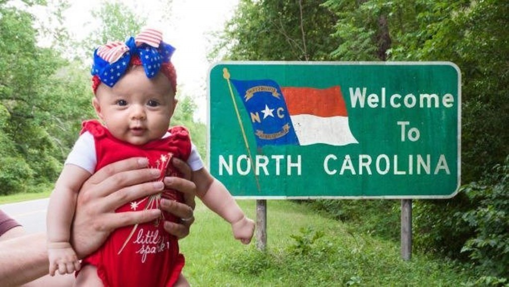 5-month-old will have traveled to all 50 states this week