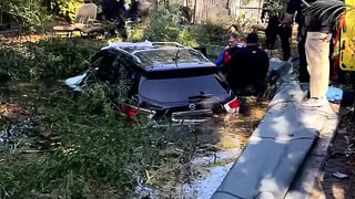Uber driver crashes into NY swimming pool