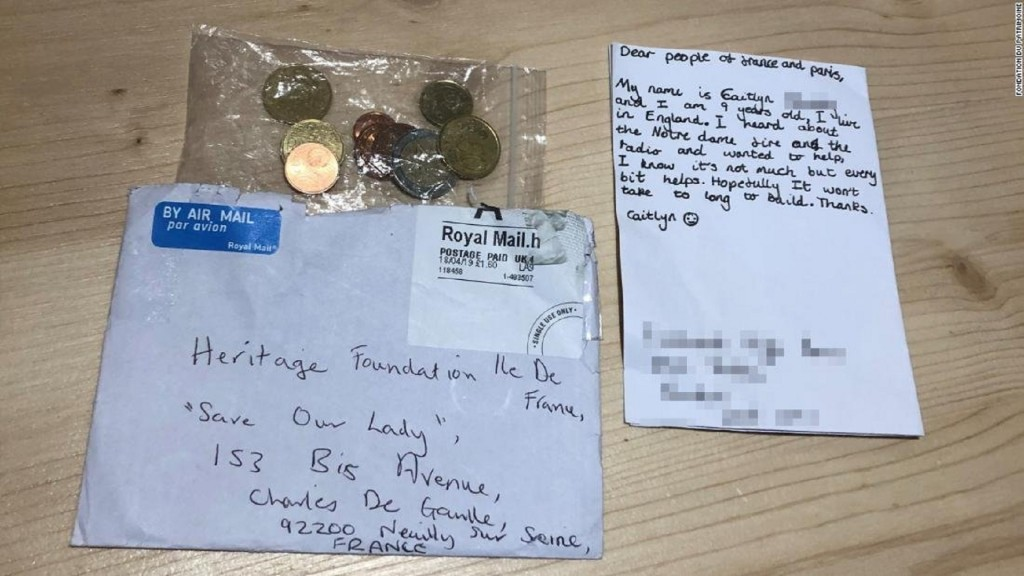 British girl sends €3 to Notre Dame appeal
