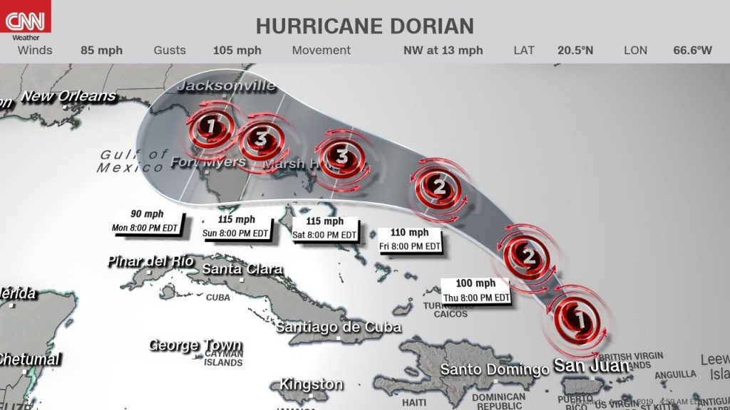 Dorian may be almost as bad as Hurricane Andrew
