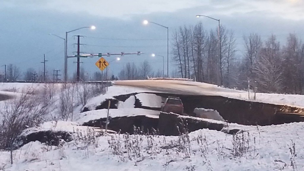Alaska quake causes extensive damage