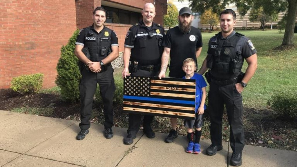 County bans thin blue line flag from police department