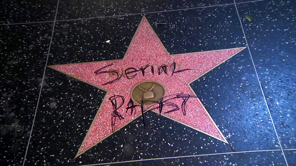 Cosby's star on Walk of Fame vandalized