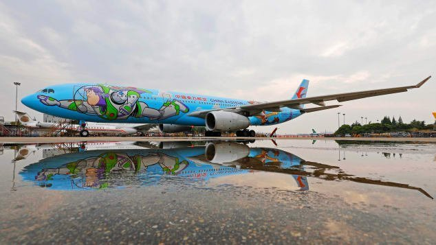 To infinity and beyond: On board the 'Toy Story'-themed airplane
