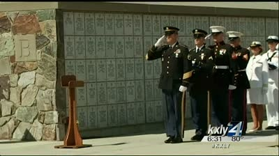 Lost servicemen buried with honors at Veterans Cemetery