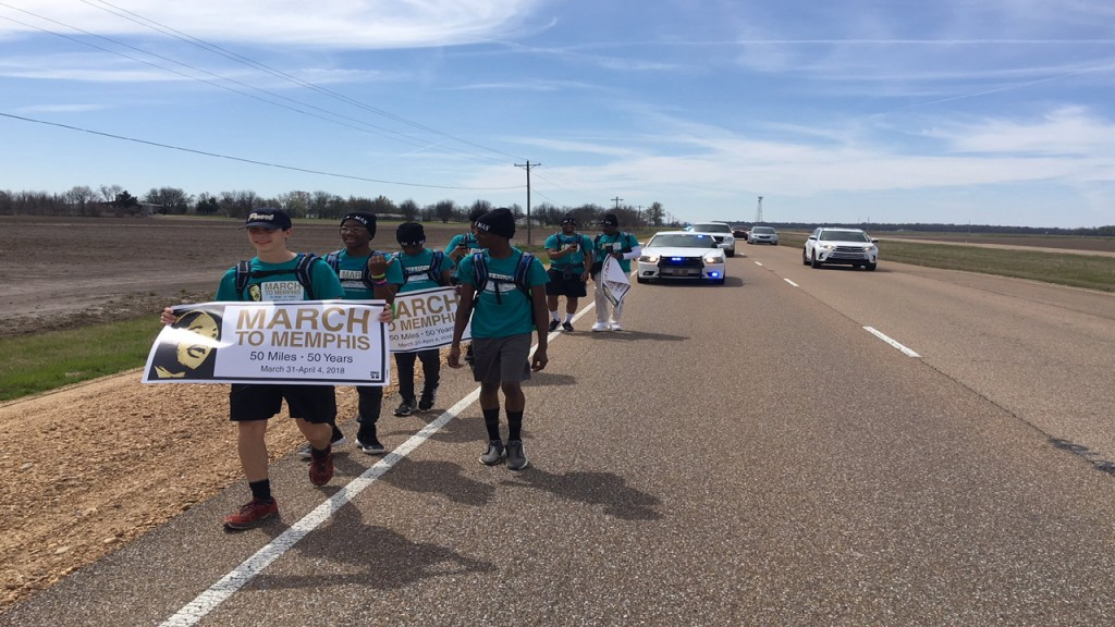 Teens are marching 50 miles to honor Martin Luther King Jr.