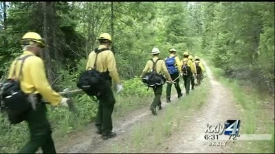 Wildfire fighters train for the season