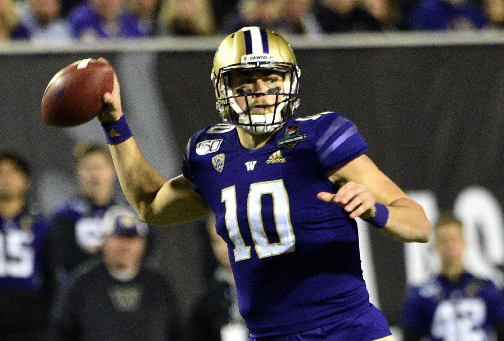 Jacob Eason, Washington Huskies QB is selected in the NFL draft